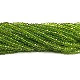 neerupam Collection 3–4mm Rondelle Perlen Edelsteinen geschnitzt natürlichen Olivin Grün Kapitel 13