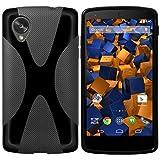 mumbi X-TPU Hülle kompatibel mit LG Google Nexus 5 Handy Case Handyhülle, schwarz