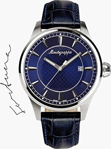 Montegrappa Fortuna Three Hands Quartz Uhr, Blau, 42mm. IDFOWADD