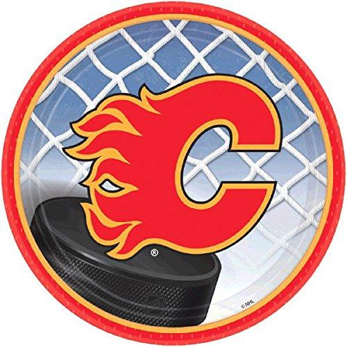 Amscan Calgary Flames rund Dessertteller, 17,8cm farbenreiche