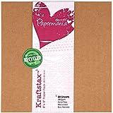 Papermania–Papel Kraft Marrón, 20,3x 20,3cm, 20Bo, 280gsm