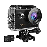 MGcool Pro Action Kamera 4K mit 2X Akkus FHD 16MP Actioncam 170° Ultra Weitwinkel Soport Cam...