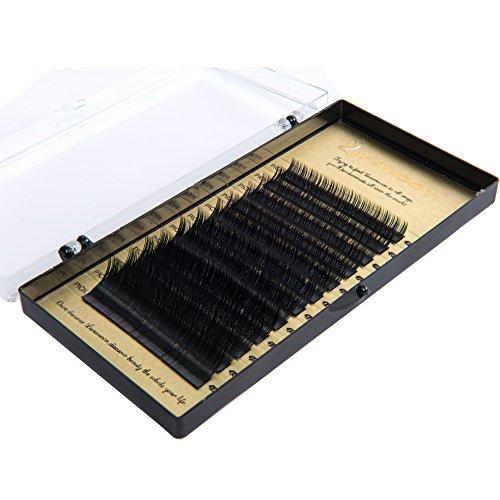 Künstliche Wimpern Wimpernverlängerung Falsche Wimpern Einzelwimpern Extensions B Curl 0.07/0.2/0.25mm 7-14mm Flache Eyelashes Individuelle Erweiterungen(0.25mm) (9mm-erweiterung)