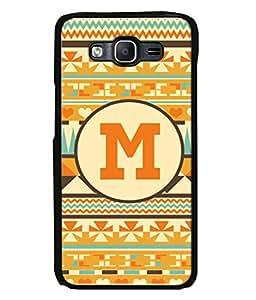 Printvisa Designer Back Case Cover for Samsung Galaxy J5 (2015) :: Samsung Galaxy J5 Duos (2015 Model) :: Samsung Galaxy J5 J500F :: Samsung Galaxy J5 J500Fn J500G J500Y J500M (Alphabet M Zigzag Lines Bars Hearts)