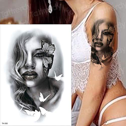 adgkitb 3pcs Orologio Horror Corvo Nuvole Scure Piramide Scorpione Tatuaggi temporanei Scorpione Tatuaggio Design per Uomo Donna Tatuaggio Bussola Stile TH350 21x15 cm