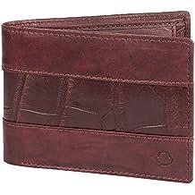 OMAX Brown 100% Top Grain Genuine Leather Slim Spacious Wallet for Men - LTWL07