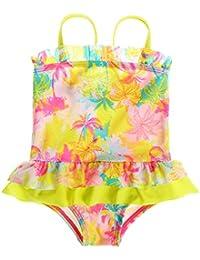 Sociala Baby Mädchen Einteiler Badeanzug mit Rock Punkte Print Bademode Schwimmanzug