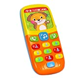 Early Education 6 Month Year Olds Baby Toy Tiny Touch Phone Musical Sound Telephone Toys for Children & Kids Boys and Girls