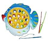 Unbekannt Angelspiel Fische mit Angel - Batterie betrieben - angeln für Kinder - mit Angelhaken - angeln Fischfang Spiel Fischeangeln Schnapp den Fisch