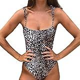 PorLous Bikini, 2019 Damen Mode Camisole Sexy Bikini Leopard Print Einteilige Badebekleidung Push-Up Gepolstert Sport Sexy