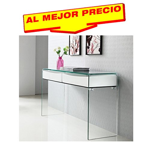CONSOLA-MODERNA-MUEBLE-RECIBIDOR-DE-CRISTAL-CURVADO-CON-DOS-CAJONES-DE-MADERA-LACADOS-EN-BLANCOMODELO-ROYALE-OFERTAS-HOGAR-AL-MEJOR-PRECIO