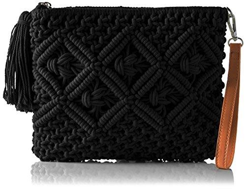 Buffalo BAG S017-269 TEXTILE Damen Clutch 2x21x26 cm (B x H x T), Schwarz (BLACK 01) -