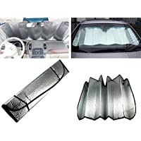 XUMIN 1PCS Silver Double-sided Aluminum Foil Car Windshield Visor Cover Film Front Window Sunshade Foldable Sun Shield Blocks Reflector Protective Cover Universal Vehicle Accessories Device