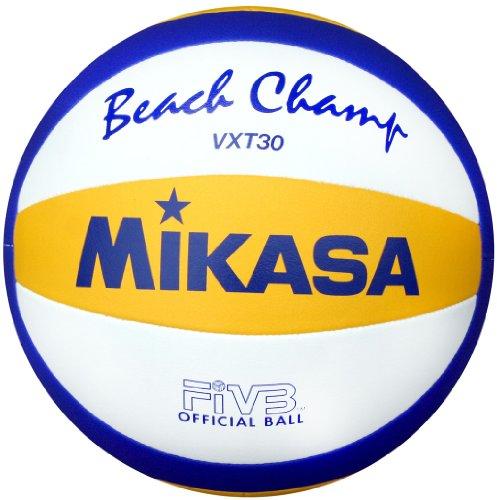 Preisvergleich Produktbild Mikasa Beachvolleyball Beach Champ VXT 30,  blau / gelb / weiß,  5