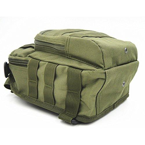 TEKON Outdoor Tactical Rucksack Militär Sport Pack Schulter Rucksack für Camping, Wandern, Trekking, Rover Sling Pack Brust Pack - Armeegrün