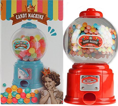 Rot 27cm Gumball Spender Retro Stil Maschine–Jelly Beans/Bubble (Gum Bubble Maschinen)
