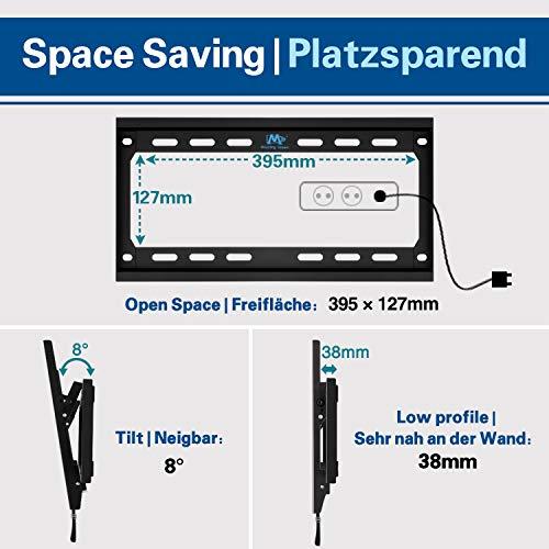 Mounting Dream TV Wandhalterung Neigbar Fernseher Halterung für die meisten 66cm-140cm (26-55 Zoll) LED, LCD, OLED und Plasma Flach Bildschirm TVs mit VESA 75x75-400x400mm bis zu 40kg, MD2868-M-03