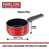 #6: Nirlon Non-Stick Aluminium Sauce Pan, 1.8 Litres, Red/Black (BT-SPB-2-6MM)