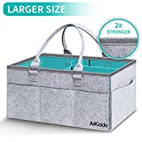 Baby Diaper Caddy Organizer | Baby Gift Basket for Baby Girl Boy | Diaper Storage Bin for Changing Table | Diaper Tote Bag |Baby Wipes & Kid Toys | Portable Car Travel Storage Basket
