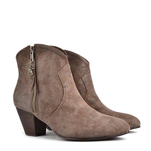 Ash Jess Boots à talon, Femme Topo