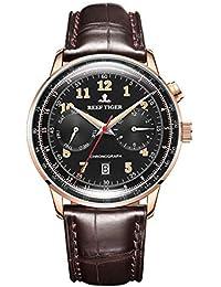 Reef Tiger RGA9122 Reloj de Vestir clásico para Hombre, Reloj Multifuncional de Cristal de Zafiro