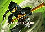 Lego Ninjago Einladungskarten 12er Set inkl. 12 Umschläge N6