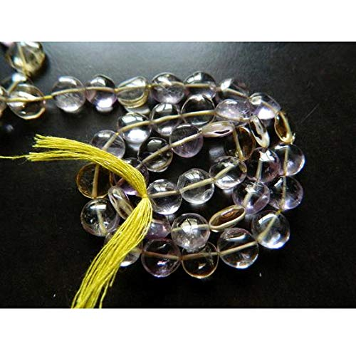 ONE 1 Strand Natural Ametrine Bead, Coin Beads, Button Beads, Ametrine Stone, Ametrine Jewelry, 6mm Beads, 13 Inches Code-RR-15468 ()