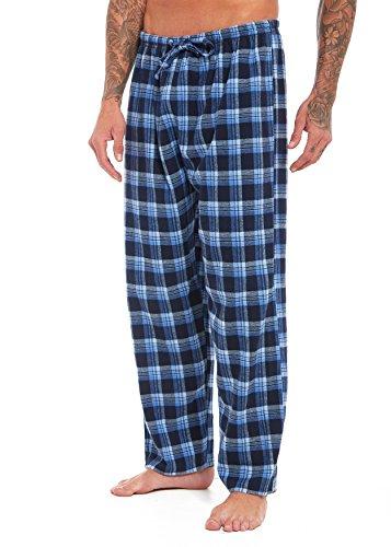 Habigail Herren Schlafanzughose Blau Kariert