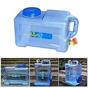sweetlife Jerrican Alimentaire Camping avec un Robinet 12L, Bidon d'eau avec Bec Verseur en Plastique Epais pour le Transport d'eau, Parfait pour Voyage Voiture Maison (1pc)