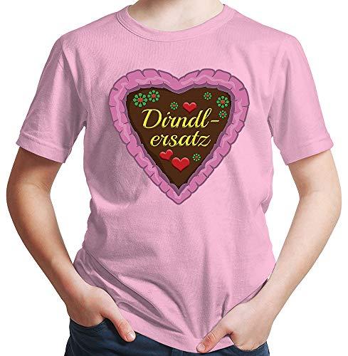 HARIZ  Jungen T-Shirt Dirndlersatz Lebkuchen Oktoberfest Outfit Tracht Dirndl Lederhosn Plus Geschenkarte Rosa 152/12-13 ()