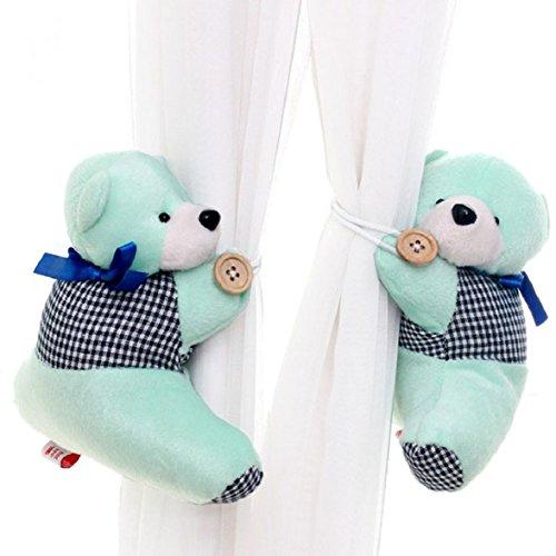 Amcool 1 Paar Bär Winnie Karikatur Vorhang Raffhalter Schnalle Spannhaken Verschluss Curtain Tieback