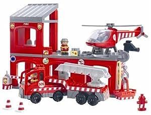 ecoiffier jouet premier age caserne des pompiers. Black Bedroom Furniture Sets. Home Design Ideas
