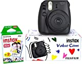 Fujifilm Combo of Instax Mini 8 Value Cam Instant Camera and 20 Instant Films (Black)