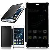 MoEx Huawei P9 Lite | Hülle Transparent TPU [OneFlow Void Cover] Dünne Schutzhülle Anthrazit Handyhülle für Huawei P9 Lite / G9 / G9 Lite Case Ultra-Slim Handy-Tasche mit Sicht-Fenster