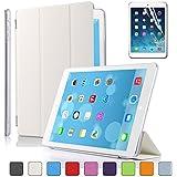 Besdataà Apple iPad Smart Housse de protection en polyuréthane avec Coque arrière pour IPad Air, Blanc - PT4101