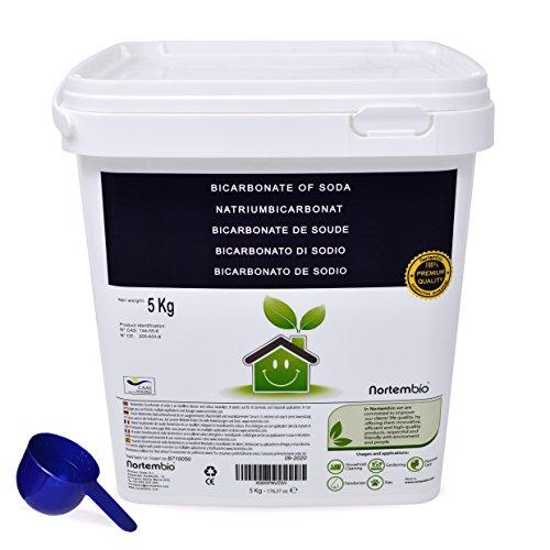 Bicarbonate de Soude NortemBio 5Kg, Intrant de la Production biologique, Qualité Supérieure, naturel 100% pur. Développé en France.