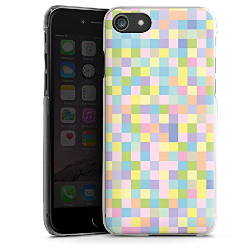 Apple iPhone X Silikon Hülle Case Schutzhülle Muster Bunt Pixel Hard Case transparent