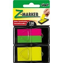 SIGEL HN485 Index Page Marker, Film, strip-size:12x45 mm, 25x45 mm, 130 strips, 3 colours