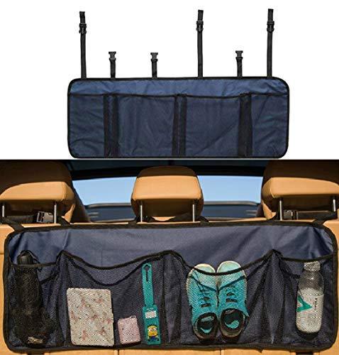 Aufbewahrung für Autorücksitz Multi Organizer Kofferraumwanne aus Polyester Große Netzfächer mit 4Taschen-Netz Tasche für Organizer zum Aufhängen für Fahrzeug