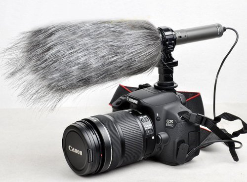MegaGear Professionelle Shotgun Camcorder and Kamera Mikrofon mit Windschutz