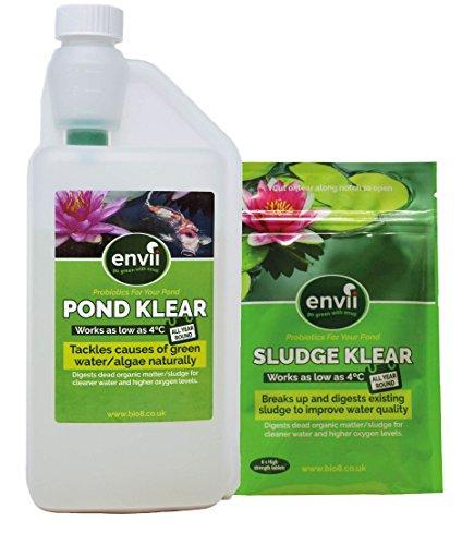 envii Sludge und Pond Klear–Pack–Ziele unerwünschte Organics im Winter. (Interpet Koi)