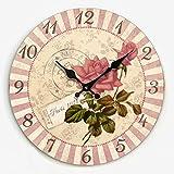 guazzbbia Das Wohnzimmer Dekoration Persönlichkeit Retro Wanduhr Uhr Kreative Schlafzimmer Wanduhr auf Modernen Minimalistischen Stumm 16 Zentimeter N Wanduhren Dekoartikel Digitale Wecker
