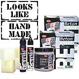 Viva Decor Trenddecor Beton Effekt Set (2 Sets) mit wiederverwendbaren Schablonen LOOKS LIKE & HAND MADE