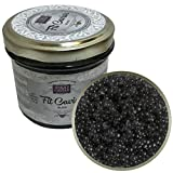 Black Caviar - Vegetarian Seaweed Caviar from Salmon Roe - Kelp & Seaweed Caviar - Best Caviar for Sushi - Russian Style - Fit Caviar - 110 gr - Glass Jar