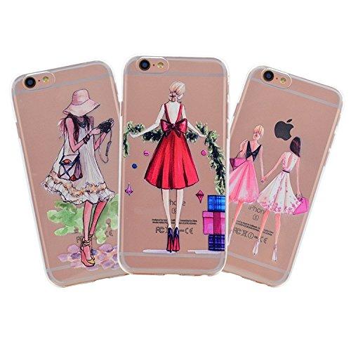 iPhone 6 Plus Case (5.5 pollice), Bonice iPhone 6S Plus Cover,Bonice Colorato Ultra Thin Morbido TPU Silicone Rubber Clear Trasparente Back Creativo Case –pulcino 02 Model 03