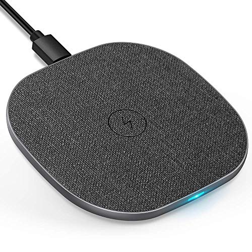 LUXSURE Fast Qi Wireless Charger Kabelloses Induktions Ladegerät schnelles Laden für iPhone 11/11 Pro/Pro Max/X/XS/XS MAX/XR/8/8Plus, Sumsung S10/S10+/S9/S9+/S8/S8+/S7/S7 Edge/ S6 Edge, Huawei usw.