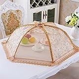 CHENGYI Diametro grande 80cm pieghevole Copertura rotonda pieghevole della copertura dell'alimento della copertura di piatto di piatto ( Colore : D )
