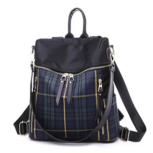 Preisvergleich Produktbild Rucksäcke Lattice Backpack Large-Kapazität beiläufige Handtasche Dual Travel Backpack (Größe: 27 * 15 * 34cm) (Farbe : Blau)