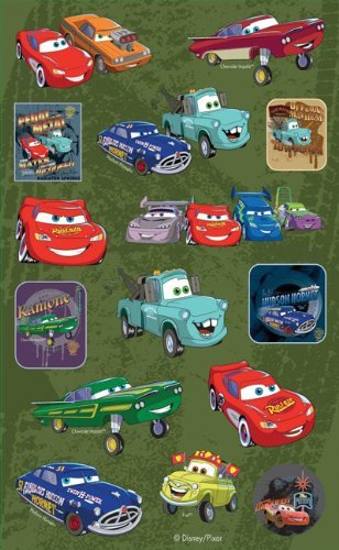 Disney Pixar-The World of Cars-2 Sheet Stickers/Autocollants by Sandy Lion