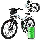 Laiozyen Bicicleta Eléctrica Plegable 250W Unisex Adulto Bicicleta eléctrica Urbana, Bici de Paseo, 8AH, batería de ión...
